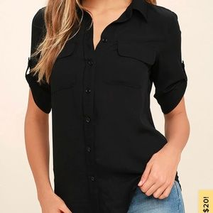 Lulus best of friends button up top